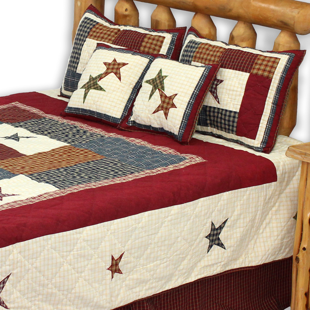 "Woodland Square King Quilt 105""W x 95""L"