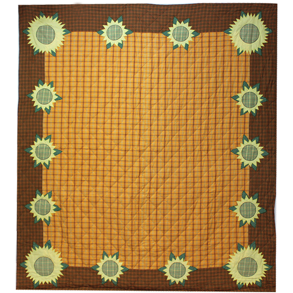 "Sunflower Luxury King Quilt 120""W x 106""L"