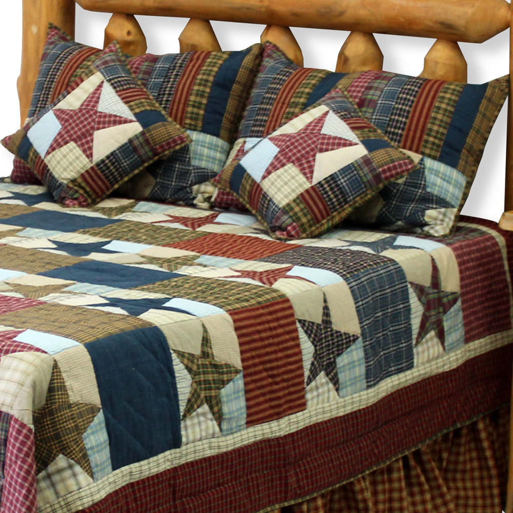 """Stars and Squares Luxury King Quilt 120""""W x 106""""L"""