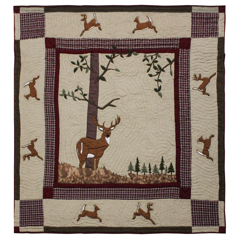 "White Tails Luxury King Quilt 120""W x 106""L"