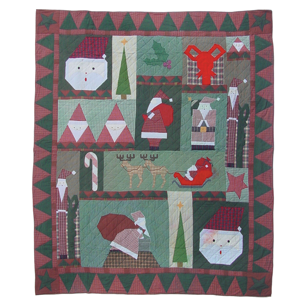 "Kris Kringle Queen Quilt 85""W x 95""L"