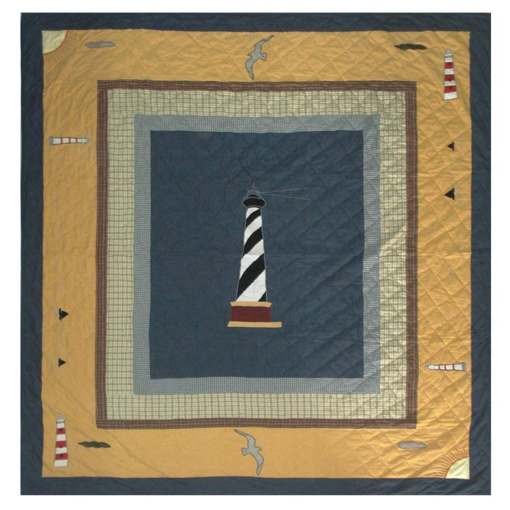 "Light House Trail Queen Quilt 85""W x 95""L"