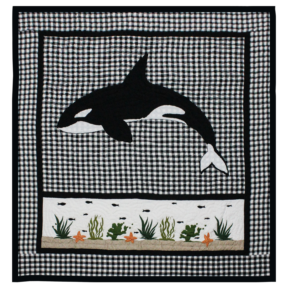 "Orca Queen Quilt 85""W x 95""L"