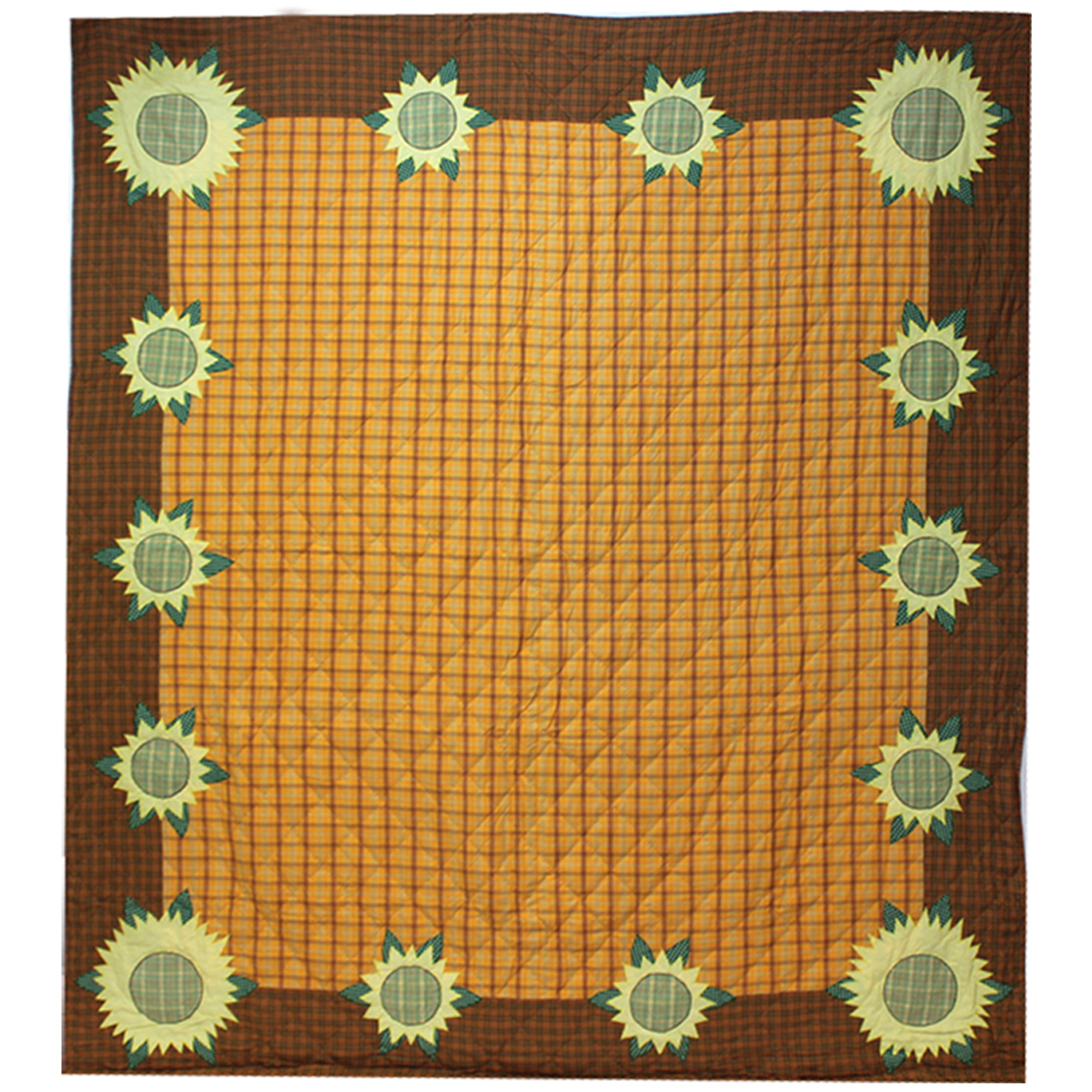 "Sunflower Queen Quilt 85""W x 95""L"