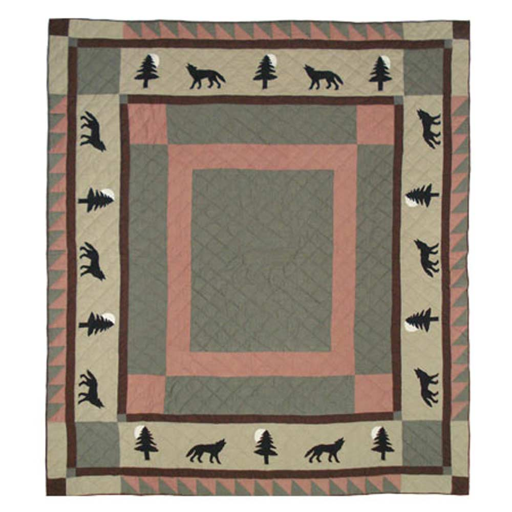 "Wolf Trail Queen Quilt 85""W x 95""L"