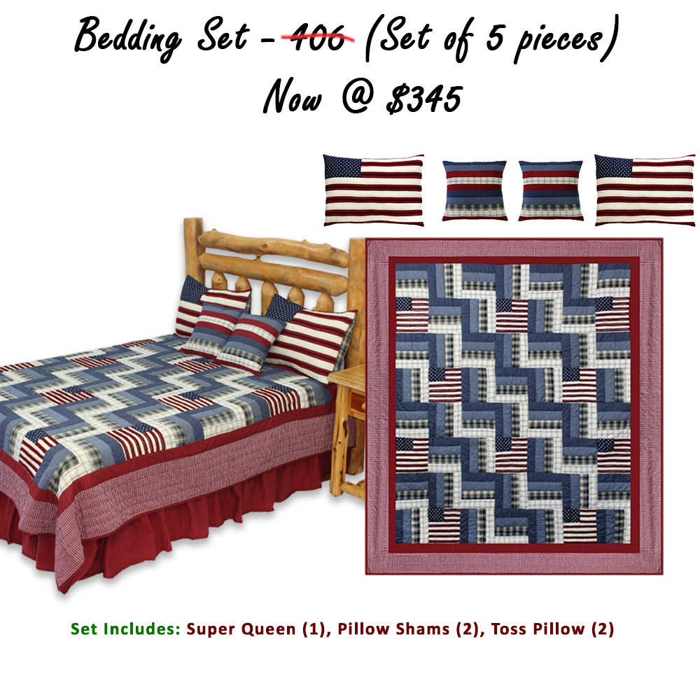 """Glory and Honour Super Queen Quilt 92""""W x 96""""L (Set of 5 Pieces)"""