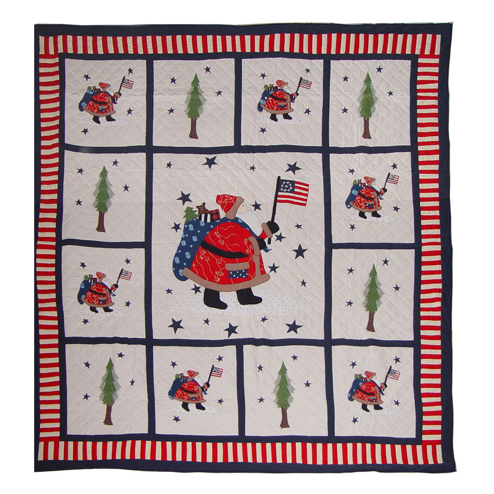 """Colonial Santa Twin Quilt 65""""W x 85""""L"""