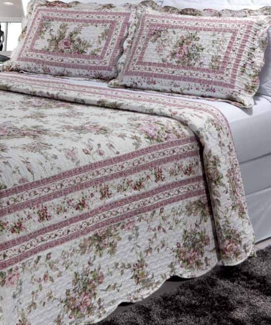 "Primrose Garden 4 piece set, super king-110""x96"", 3-standard pillow shams"