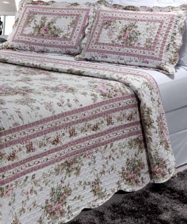 """Primrose Garden 2 piece set, quilt twin-65""""w x 85""""l, 1-standard pillow sham"""