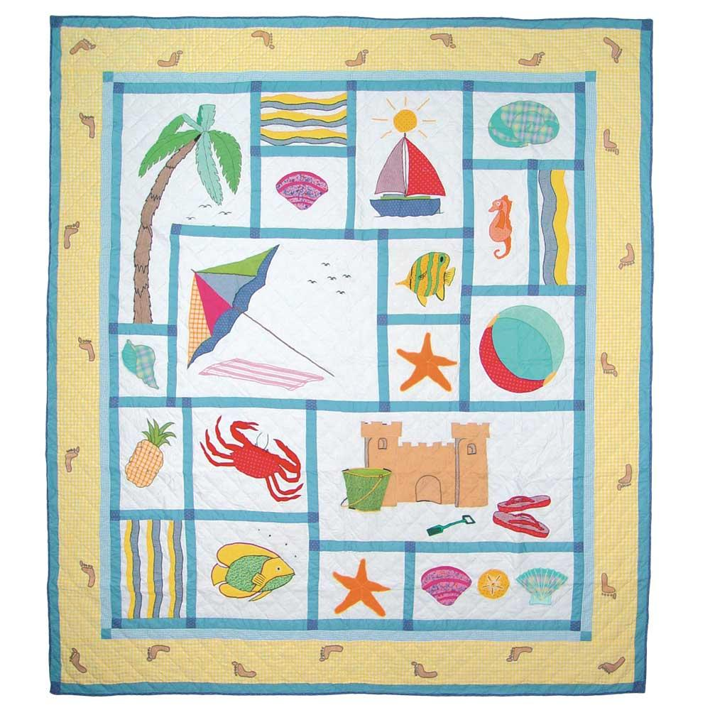 "Summer Fun Twin Quilt 65""W x 85""L"