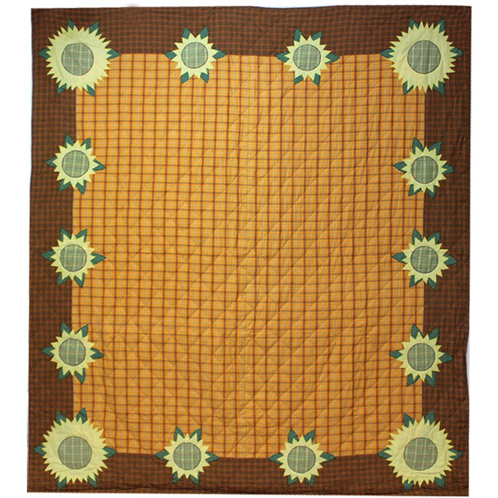 "Sunflower Twin Quilt 65""W x 85""L"