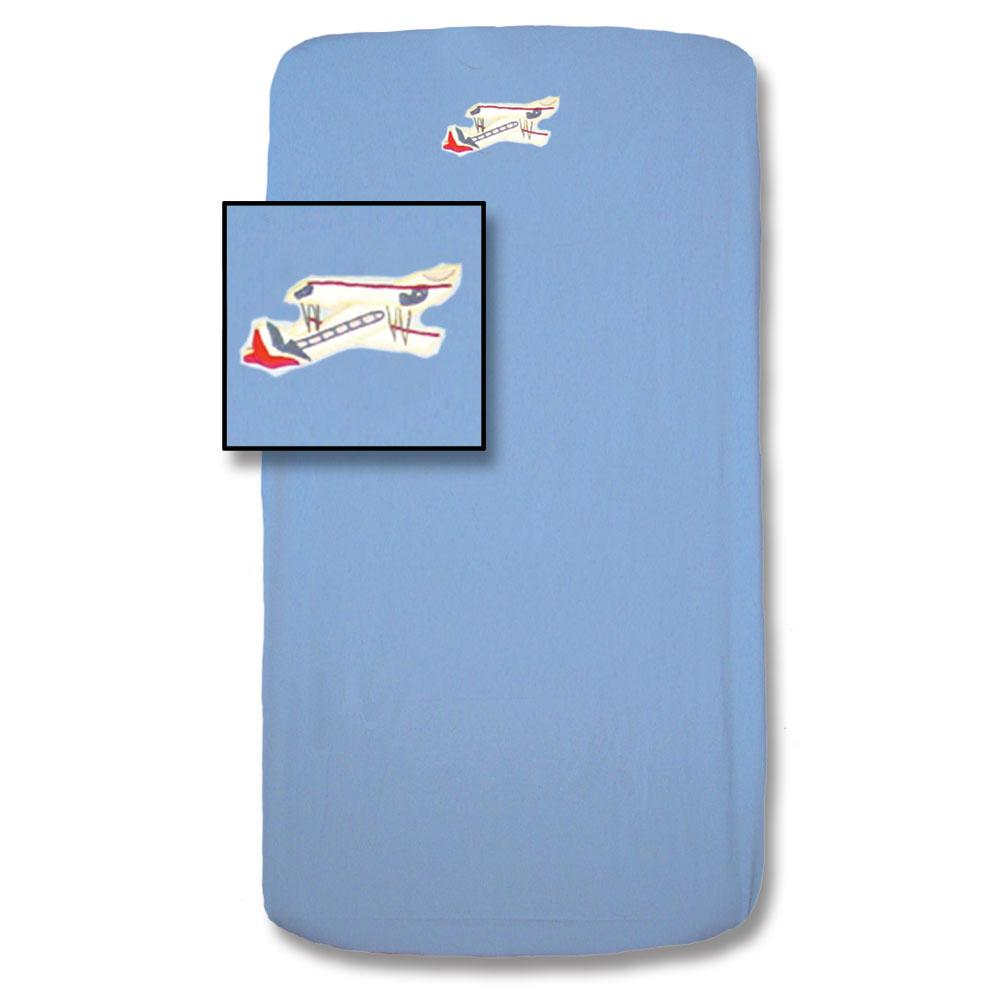 "Airplane Sortie Crib Sheet 28""W x 53""L"
