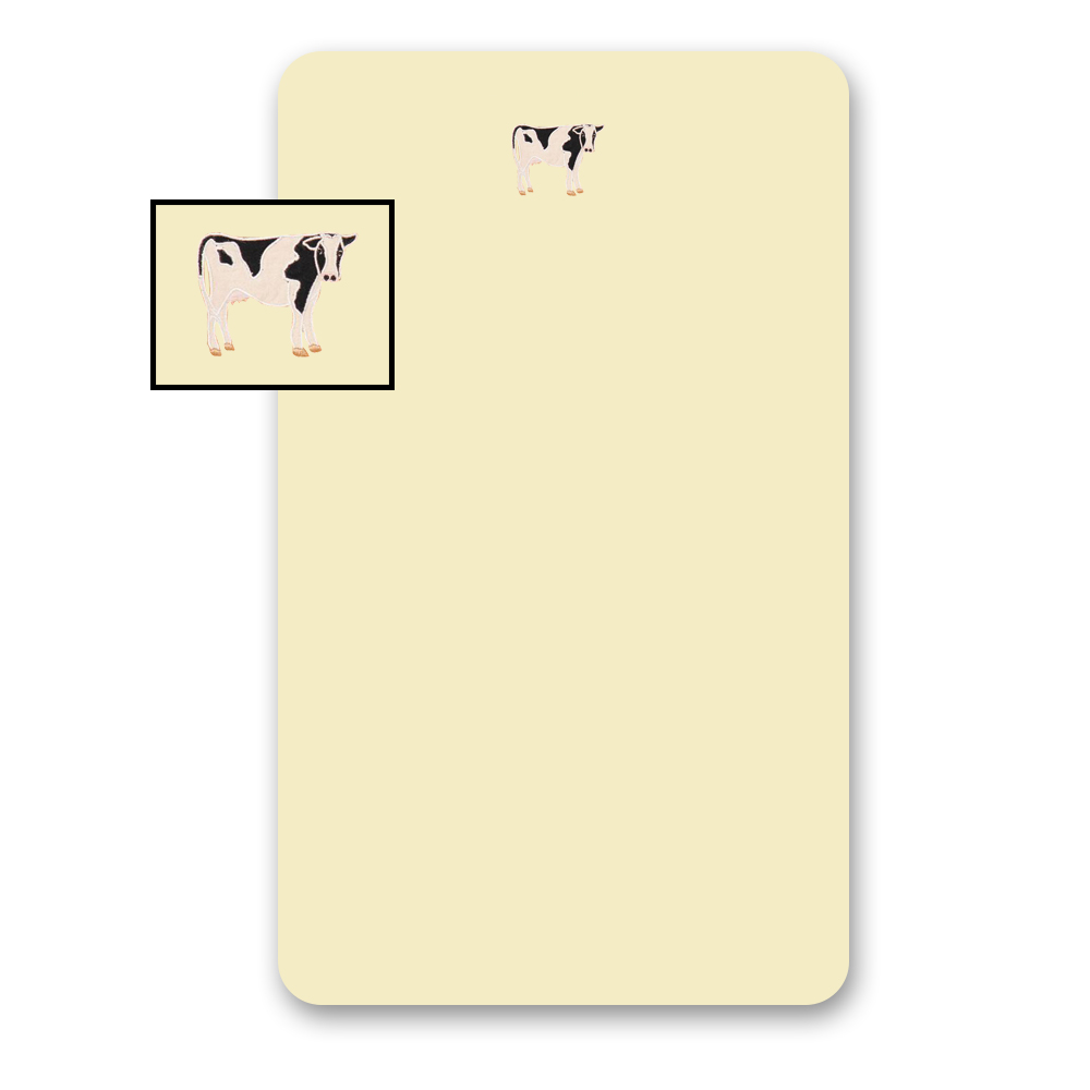"""Barnyard Animals Crib Sheet 28""""W x 53""""L"""