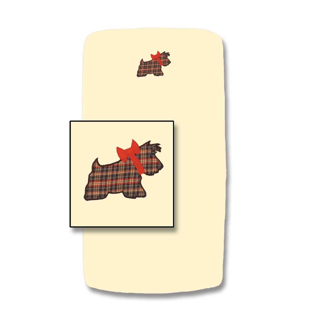 """Scottie Crib Sheet 28""""W x 53""""L"""