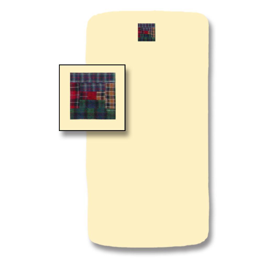 """Tartan Log Cabin Crib Sheet 28""""W x 53""""L"""