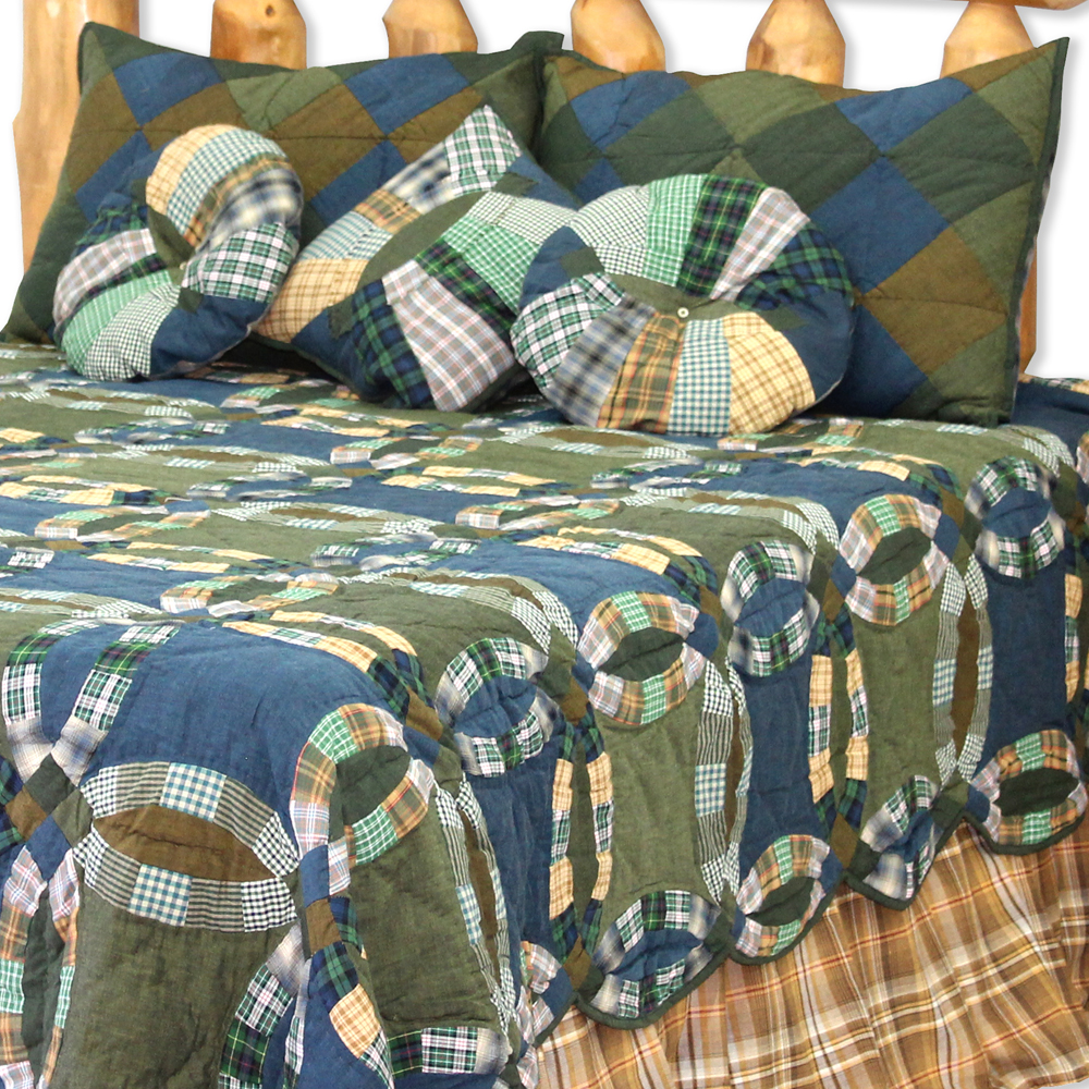 """Chambray Ring Super King Quilt 110""""W x 96""""L"""