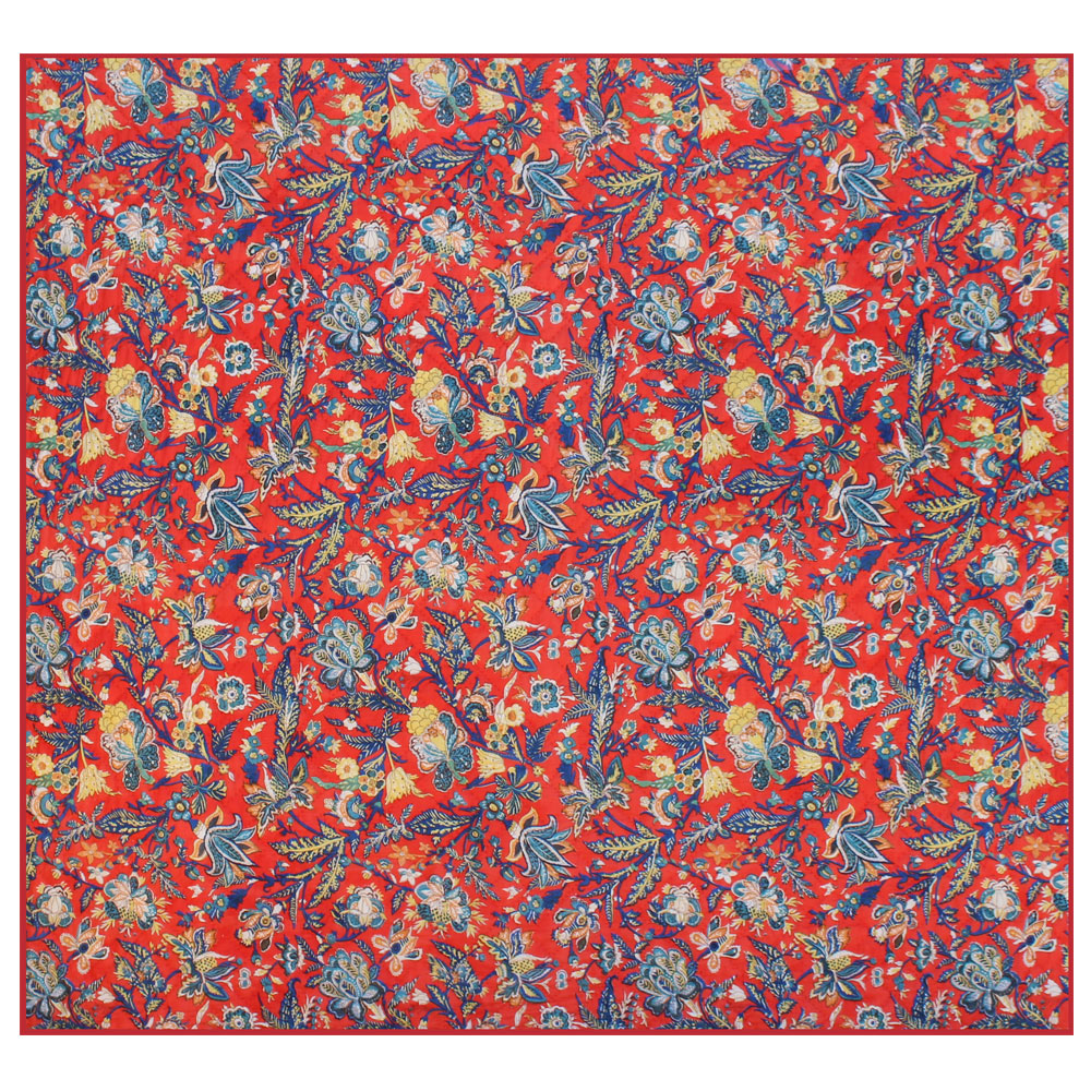 """French Red Swathe Super King Quilt 110""""W x 96""""L"""