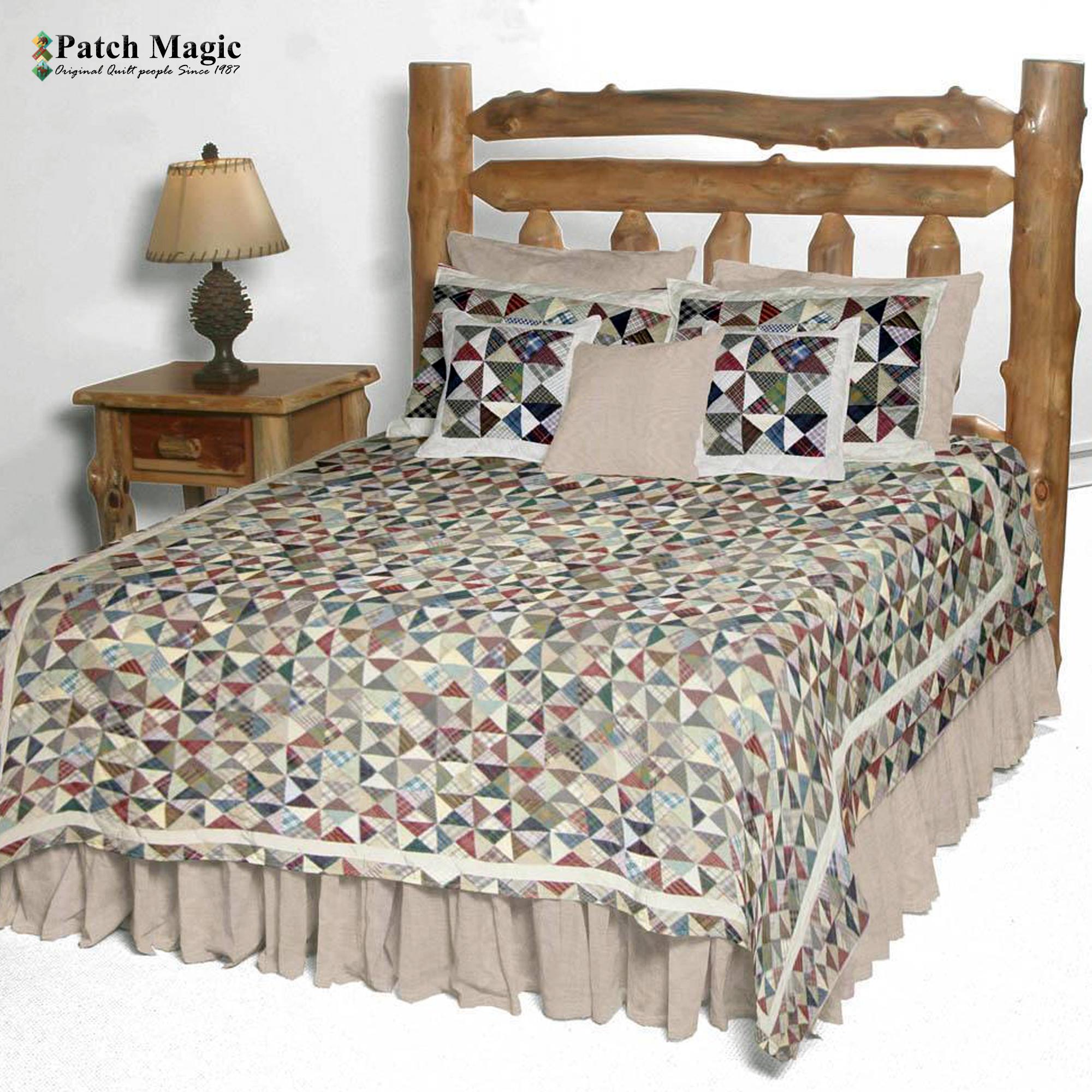 "Kaleidoscope super king quilt 110""w x 96""l"