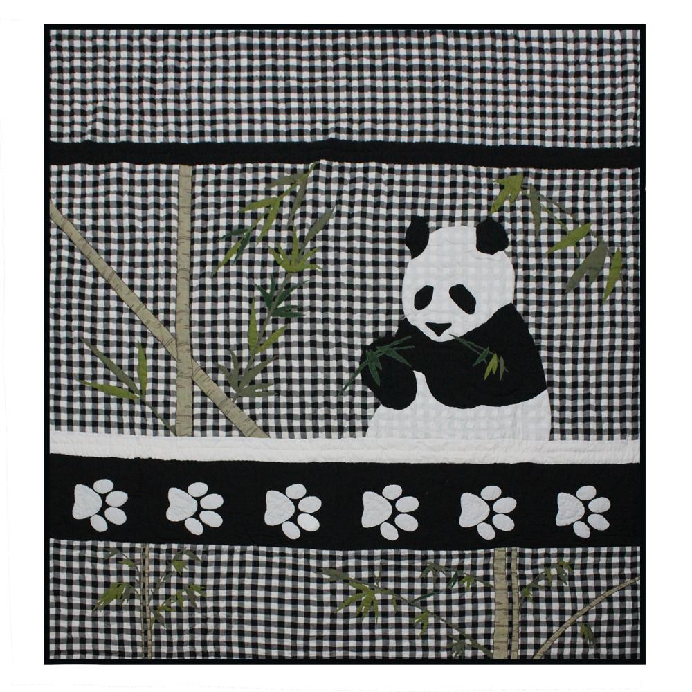 """Panda Super King Quilt 110""""W x 96""""L"""