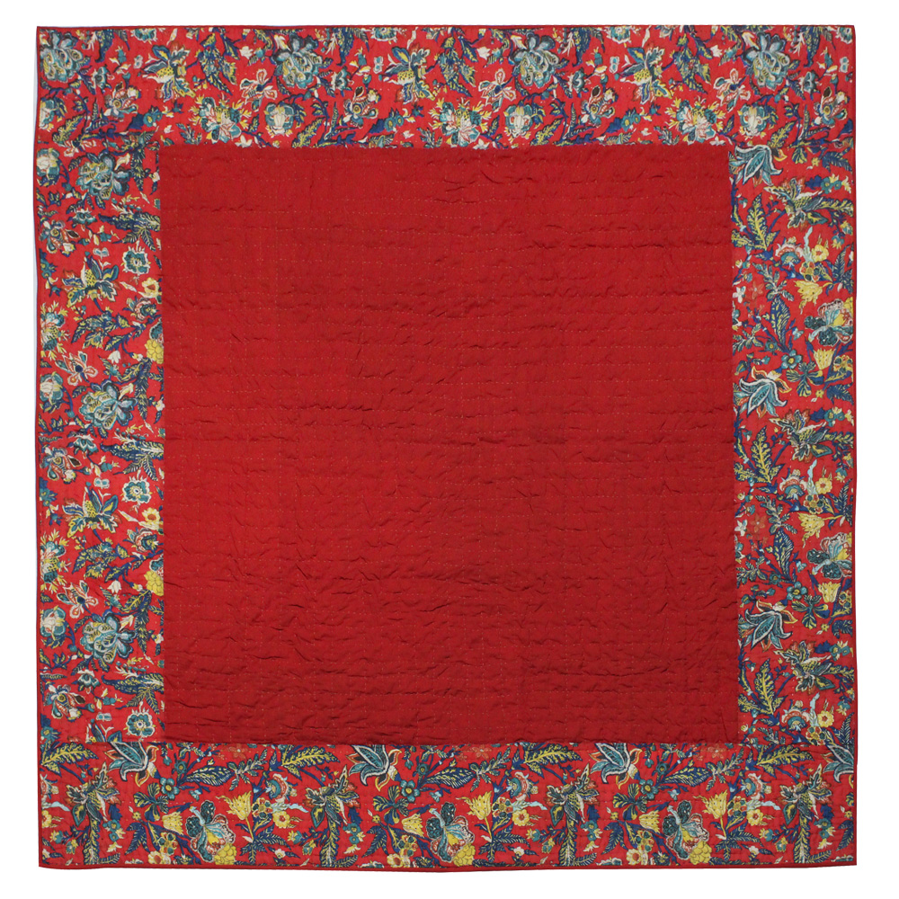 "Rouge Champ Super Queen Quilt 92""W x 96""L"