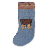 "Cowboy, wagon,stocking 8""w x 21""l"