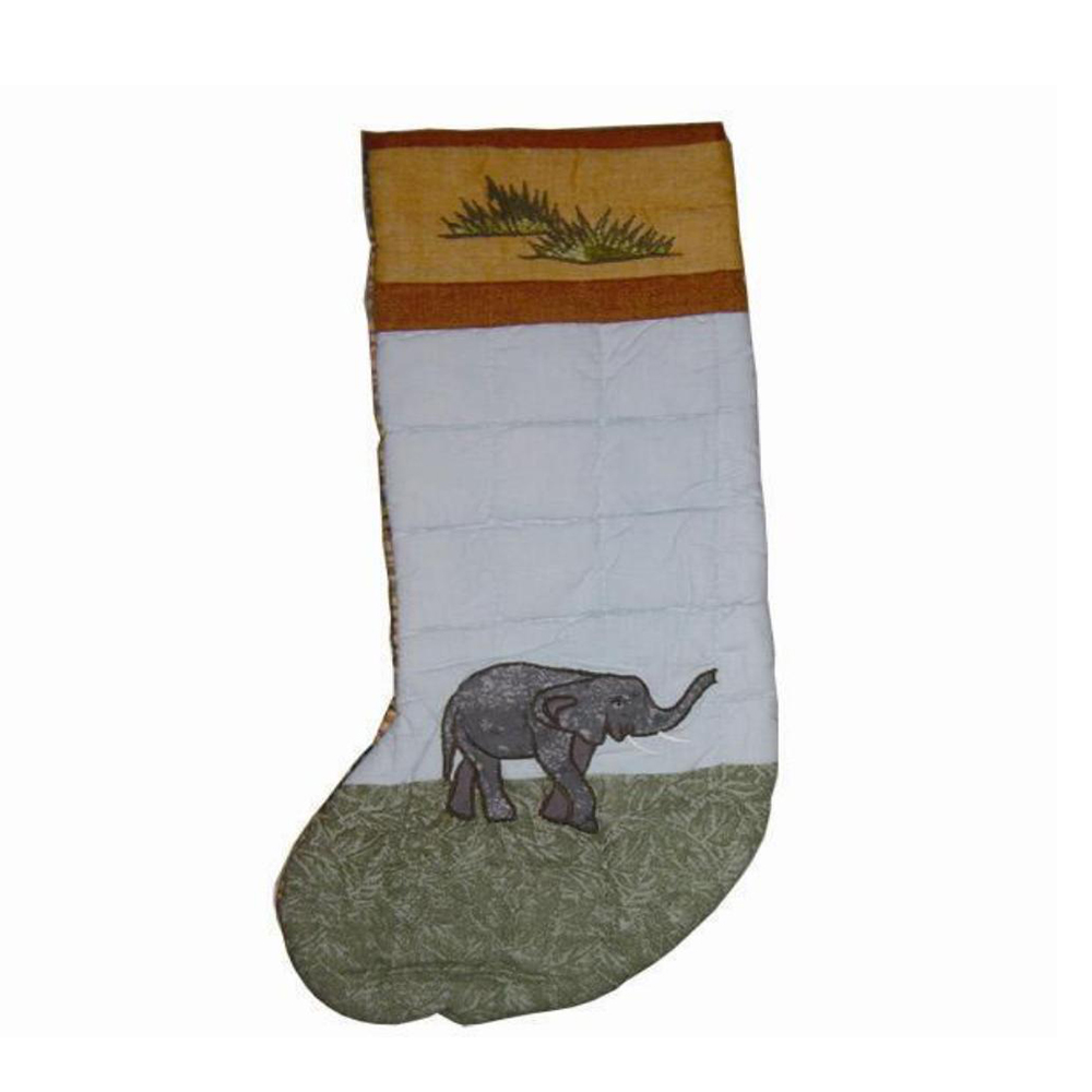 "Safari elephant Stocking 8""W x 21""L"