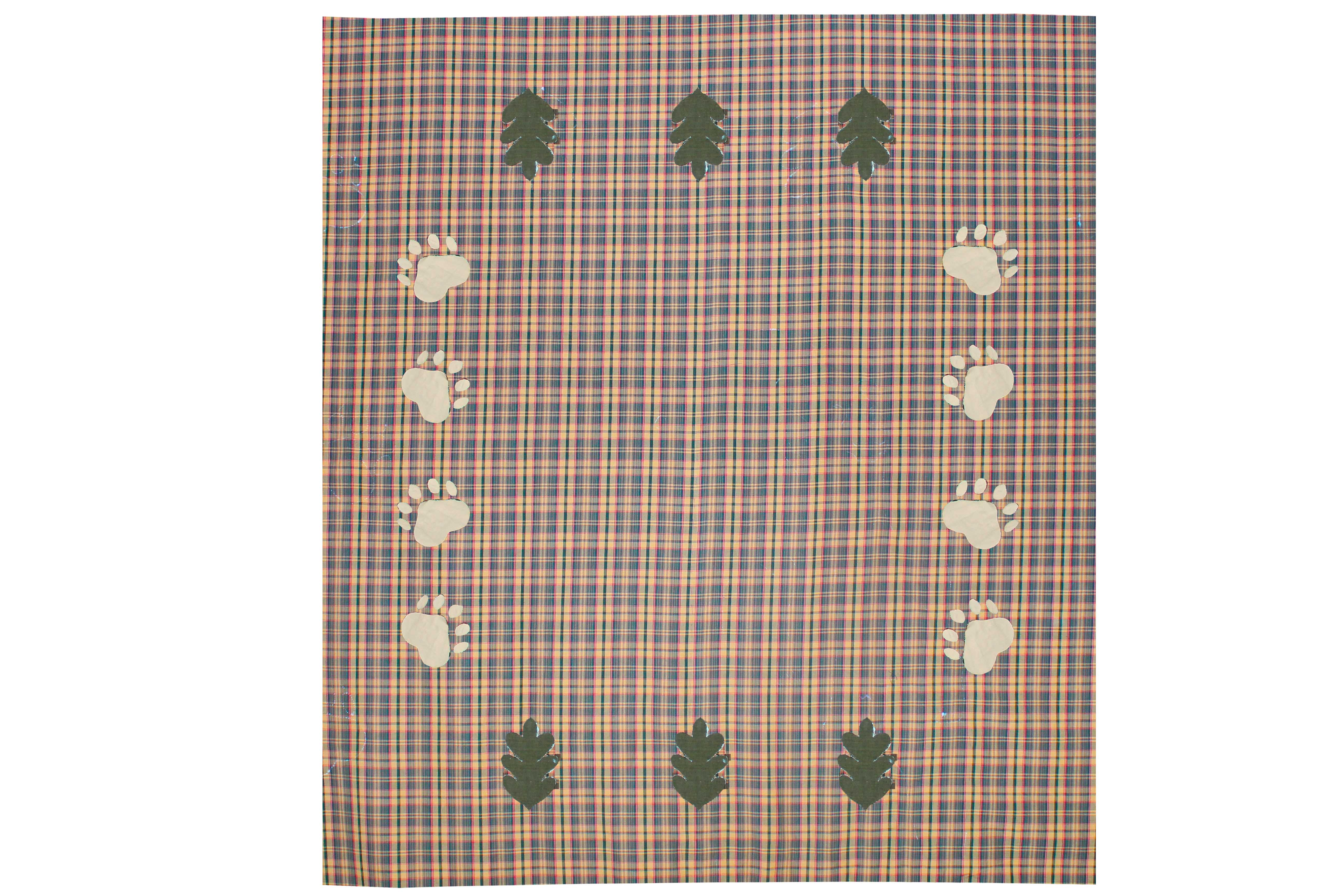 "Gold and Brown Plaid Table Cloth  (4 place )52""x52"""