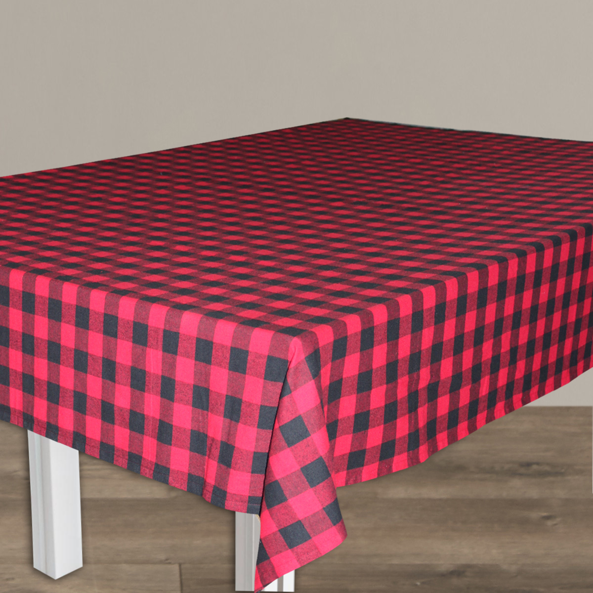 "Red and Black Buffalo Check Table Cloth Large (10 Place) 60""x84"""