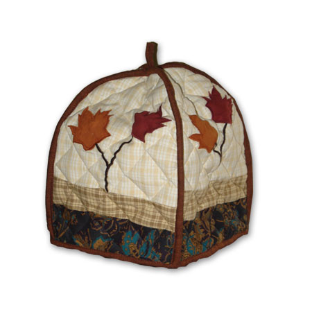 "Autumn Leaves tea cozy 7""x10"""