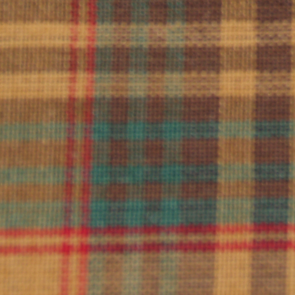 """Gold and Brown Plaid Throw 50""""W x 60""""L"""