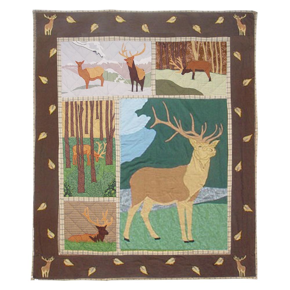 """Brown Elk Throw 50""""W x 60""""L"""