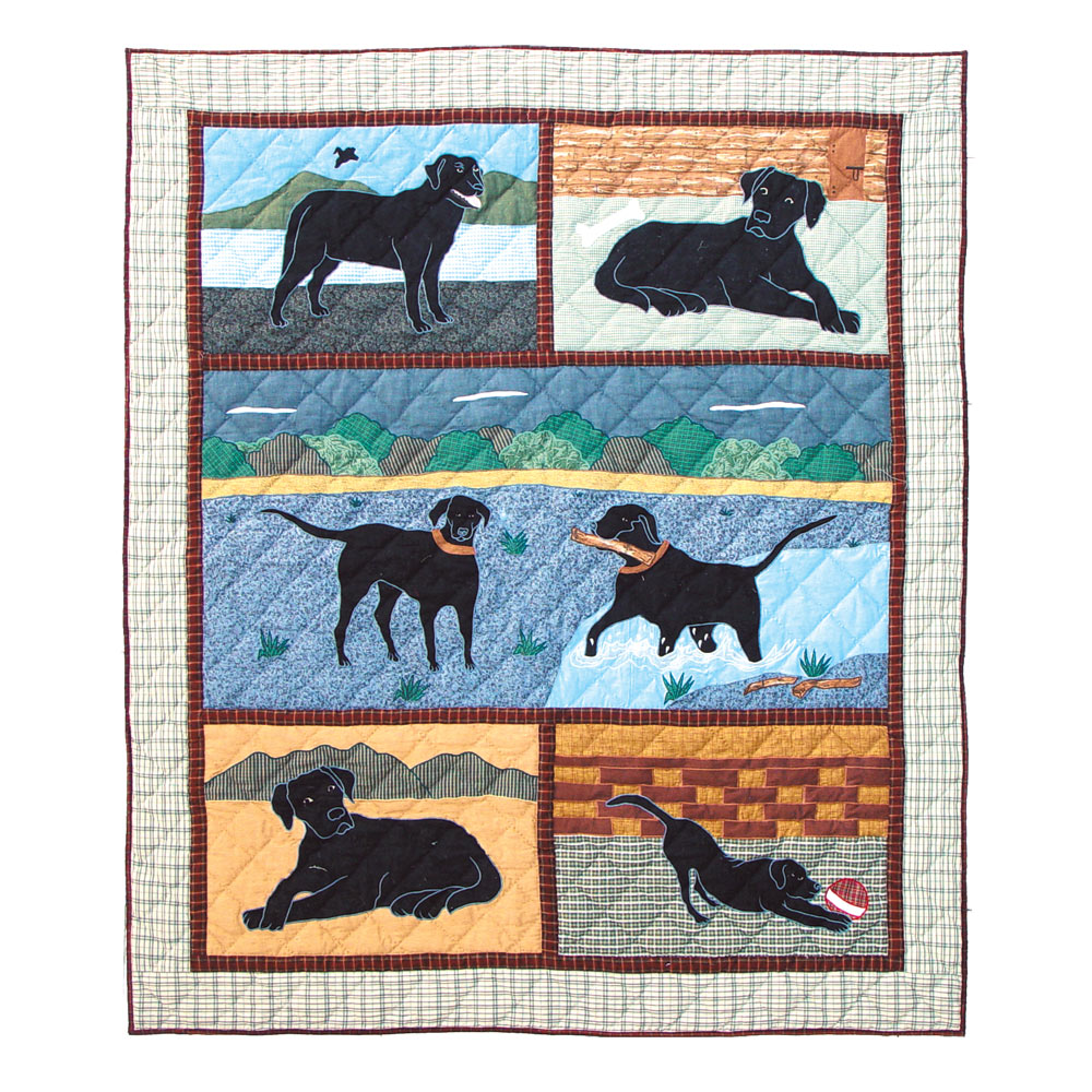 "Black Lab Throw 50""W x 60""L"