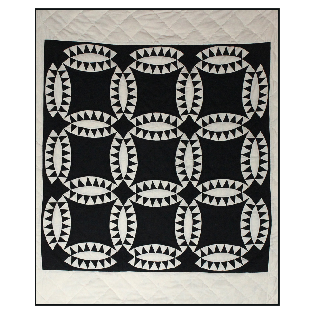 "Black Wedding Ring Throw 50""W x 60""L"