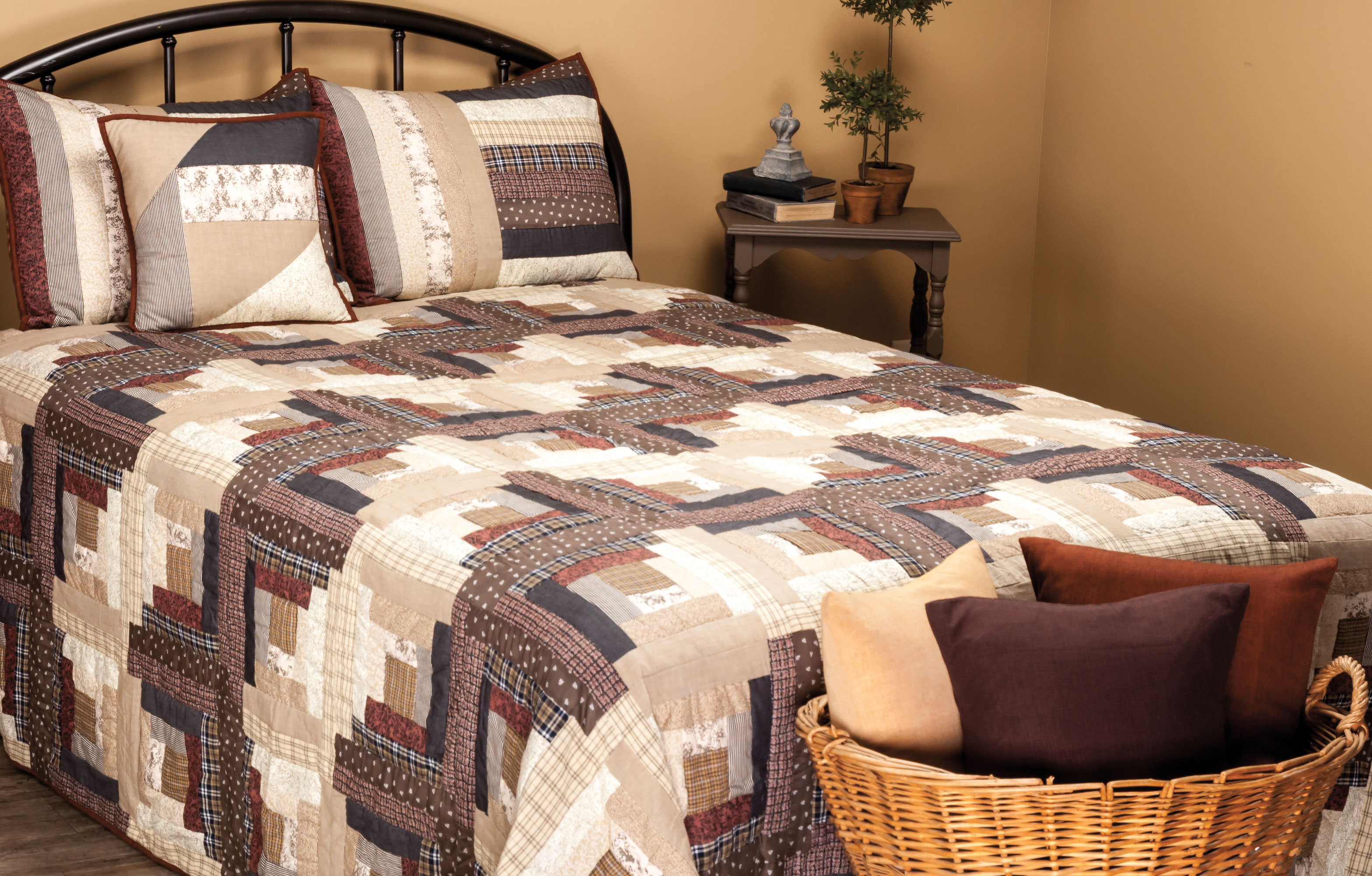 "Express Log Cabin Throw 50""W x 60""L"