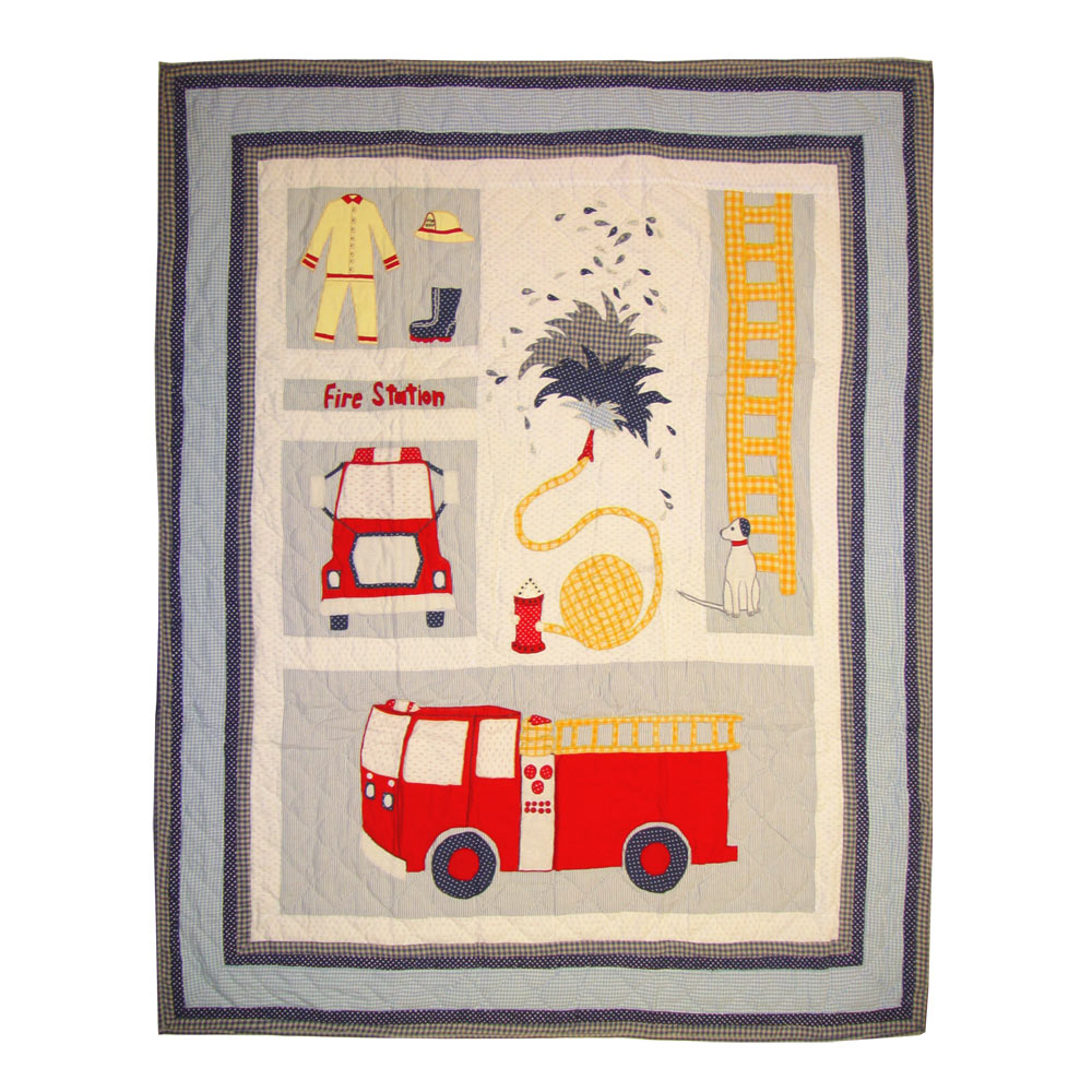 "Fire Truck Throw 50""W x 60""L"