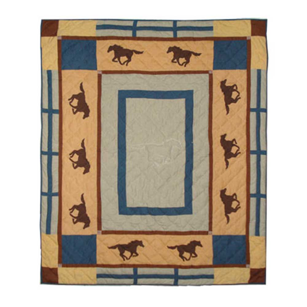 "Horse Trail Throw 50""W x 60""L"