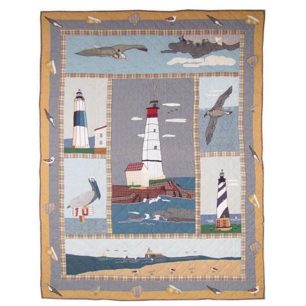 "Lighthouse by the Bay Throw 50""W x 60""L"