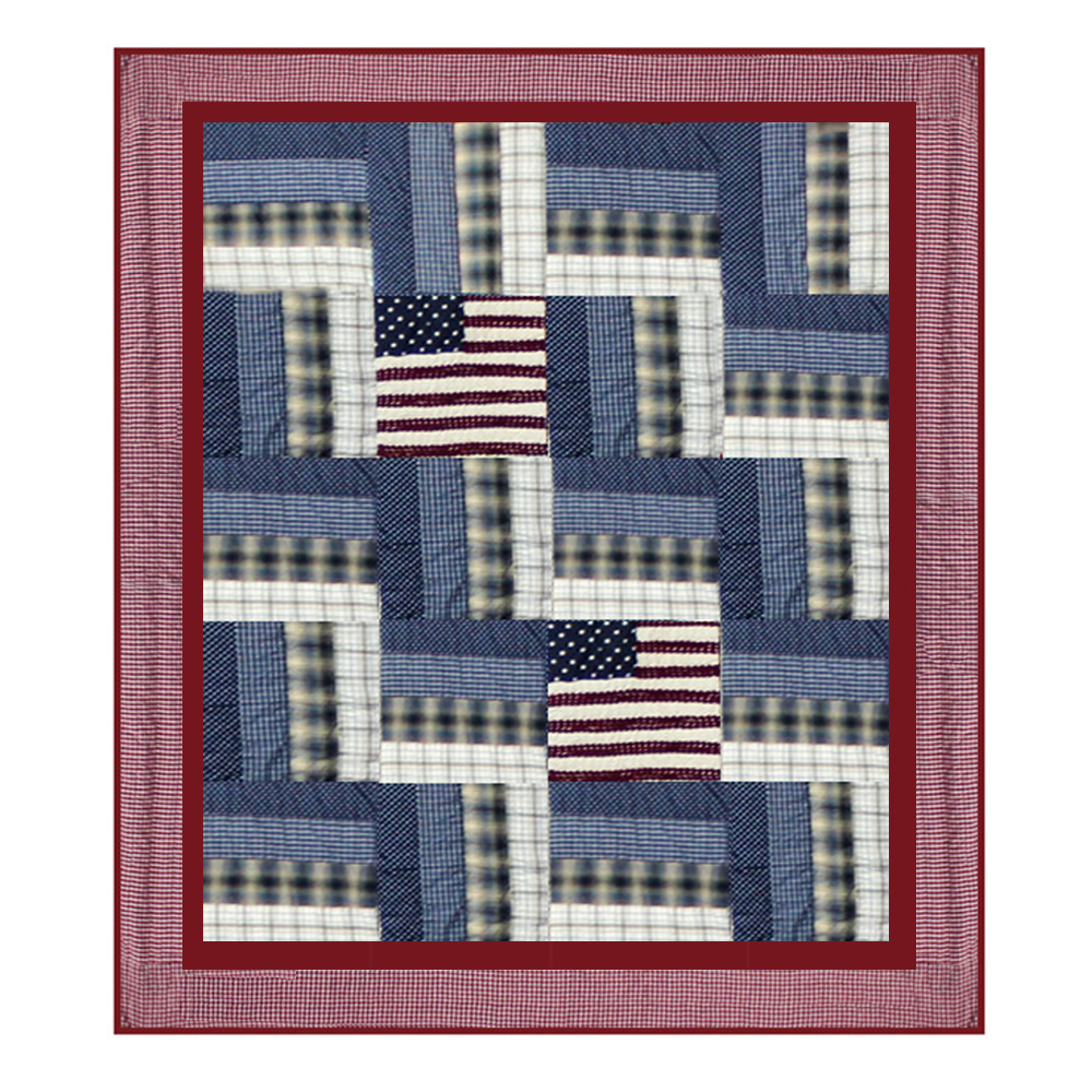 "Patriot Throw 50""W x 60""L"