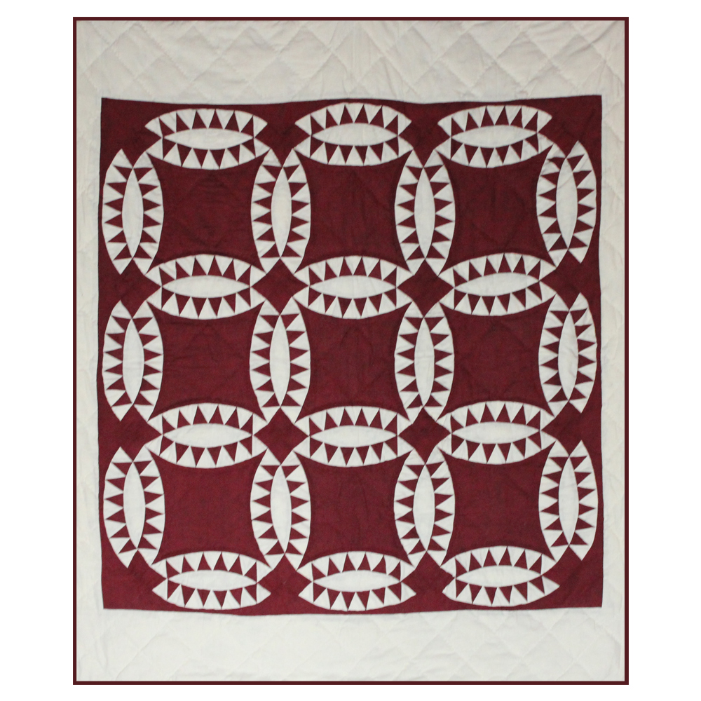 "Red Wedding Ring Throw 50""W x 60""L"