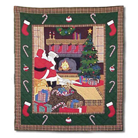 "Santa by the Fireside Throw 50""W x 60""L"