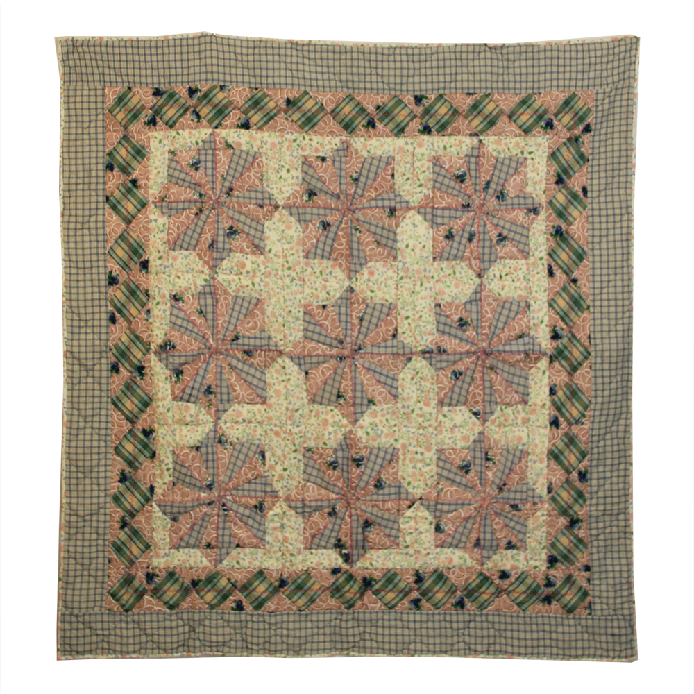 "Snowflake star Throw 50""W x 60""L"