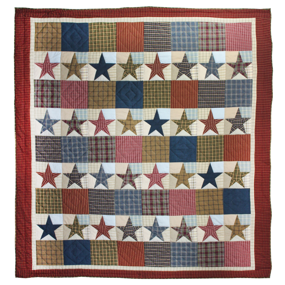 """Stars and Squares Throw 50""""W x 60""""L"""