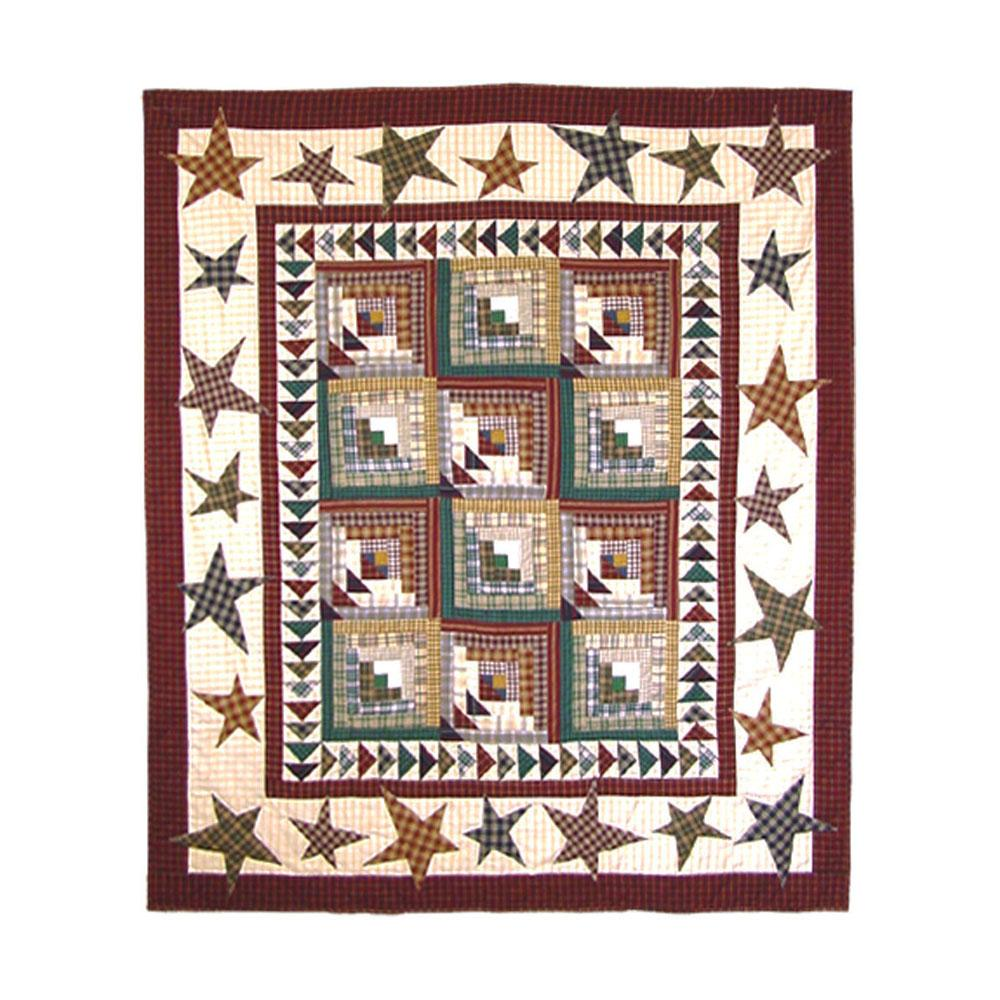 "Woodland Star and Geese Throw 50""W x 60""L"