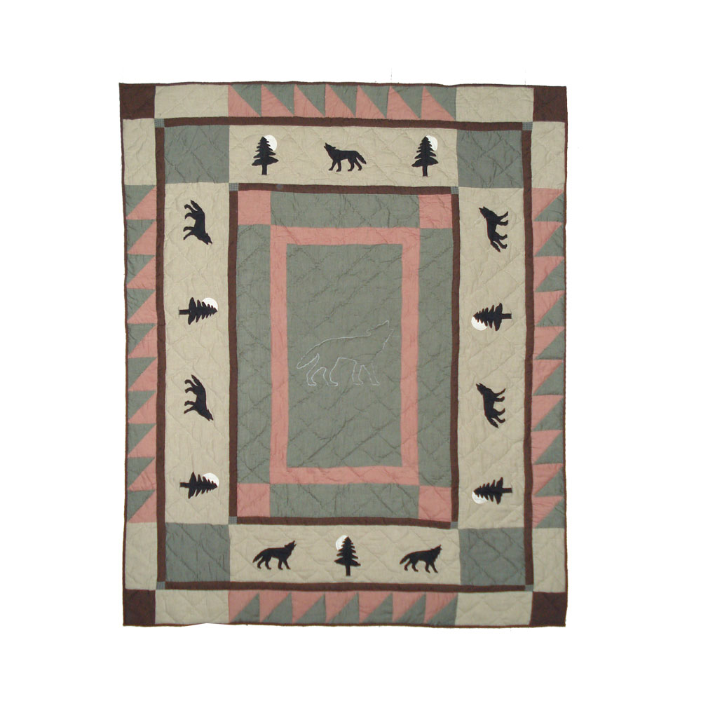 "Wolf Trail Throw 50""W x 60""L"