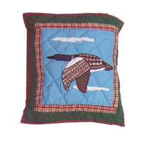 "Common Loon Echo flying geese Toss Pillow 16""W x 16""L"
