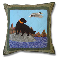 "Mallard Dog Toss Pillow 16""W x 16""L"