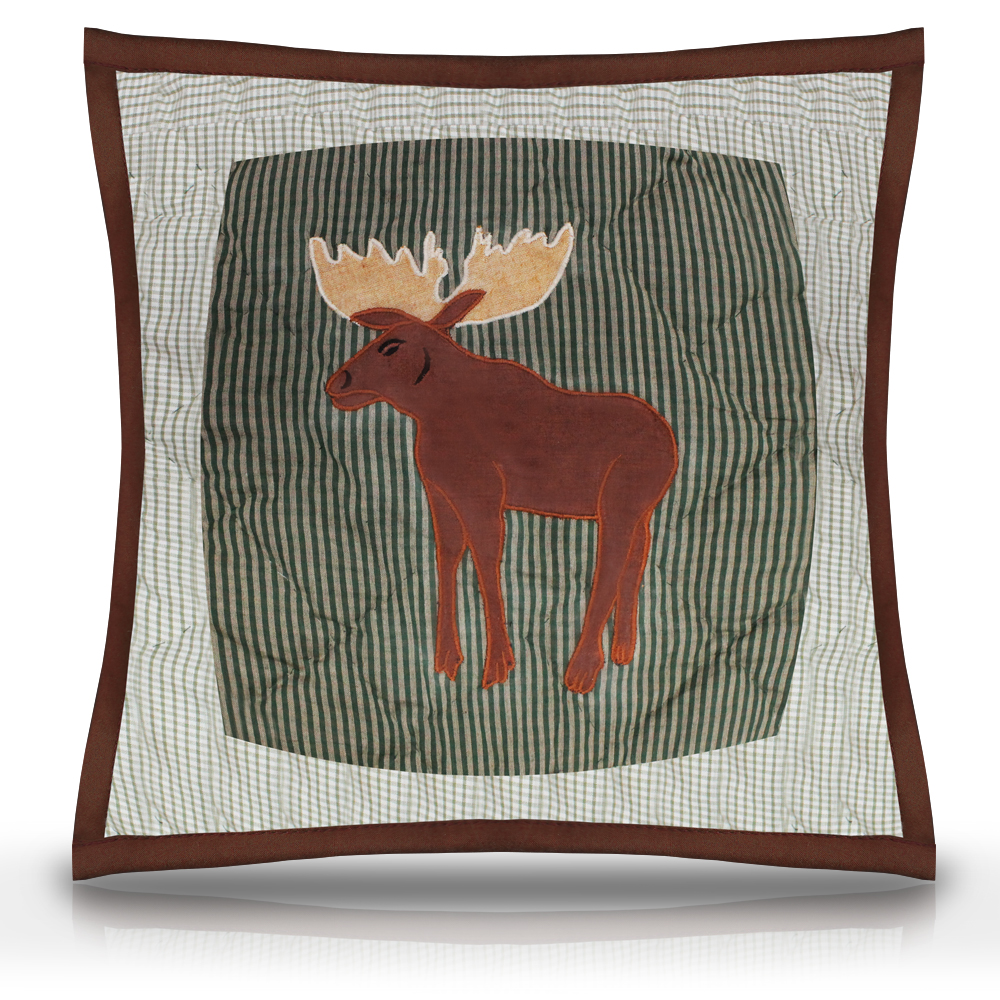 "Moose Mallard Toss Pillow 16""W x 16""L"