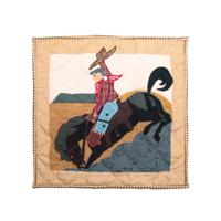 """Brand Western Rider Toss Pillow 16""""W x 16""""L"""