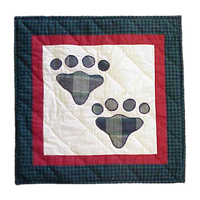 "Fido paw Toss Pillow 16""W x 16""L"