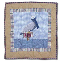 "By the Bay Pelican Toss Pillow 16""W x 16""L"